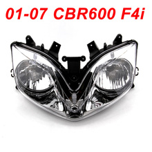 For 01-07 Honda CBR600 CBR 600 F4i Front Headlight Head Light Assembly Headlamp CLEAR 2001 2002 2003 2004 2005 2006 2007 customize injection molded for honda cbr 600 f4i fairings 01 02 03 black red cbr600 2001 2002 2003 fairing body kit re24