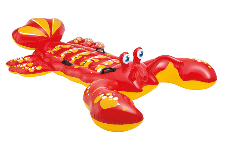 Giant red lobster Swan Inflatable Ride-On outdoor children's Toy Float Summer Holiday Water Fun Toys 190 190cm fashion summer style gigantic pink ride on swim ring pool toys inflatable flamingo floating row for holiday water fun