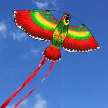 1 шт., красный попугаи, воздушный змей, птица, одна линия, ветерок, воздушный змей, летающий, для улицы, летающий, веселый, спортивный, для детей, 110*80 см