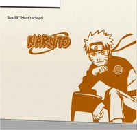 Free Shipping Wall Sticker Decal Anime Cartoon Uchiha Sasuke Uzumaki Naruto Present Home Decor TV Children's Room Poster