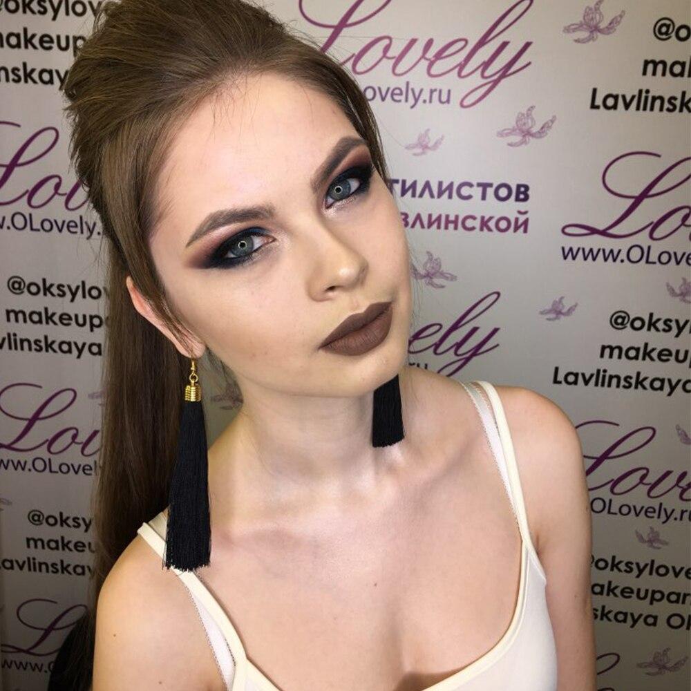 KISSWIFE 2018 Bohemian New Hot Tassel Drop Earrings  Black Vintage Tassel Earrings Long Big Dangle Earrings Female