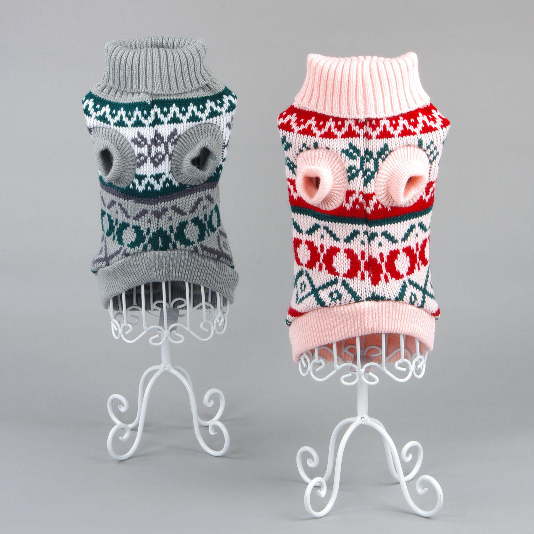 Новый snowflower теплый трикотаж кошка свитер перемычка пальто для фуршета маленький щенок собаки кошки рождество рождество одежда для собак