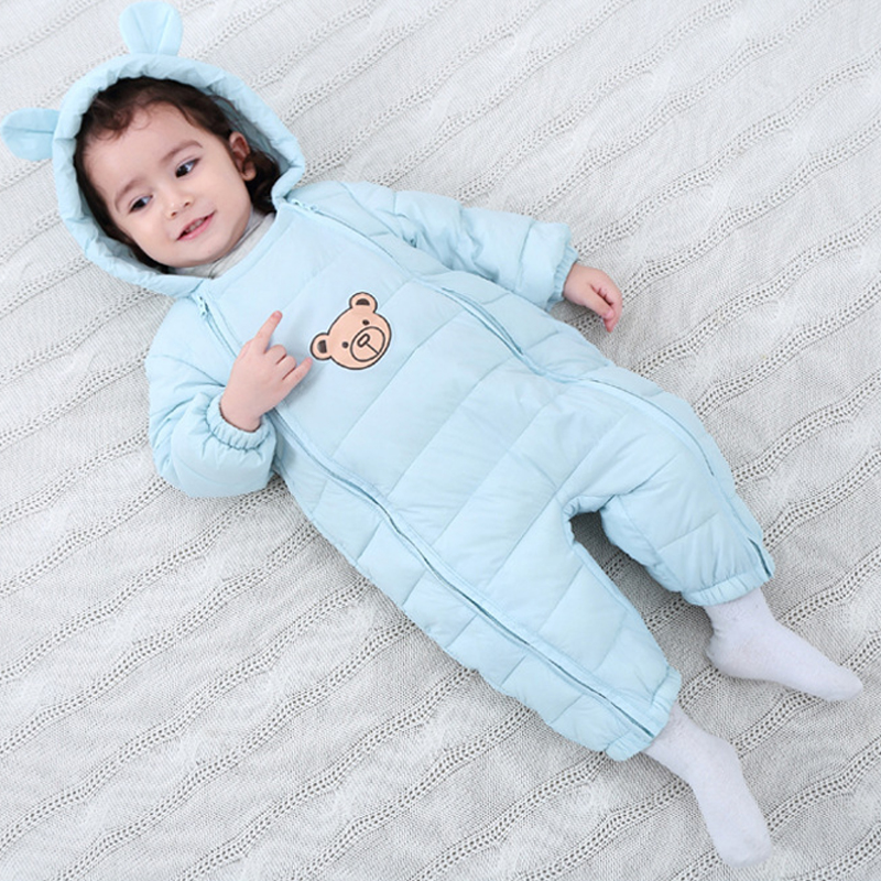 Baby Rompers Winter Boys Costume Down Girls Warm Infant Snowsuit Kid Jumpsuit