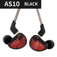 KZ AS10 Wired Earphones 4BA+1 Driver In Ear phone HIFI Bass Headset Noise Canceling Earphone Earbuds Detachable Cable