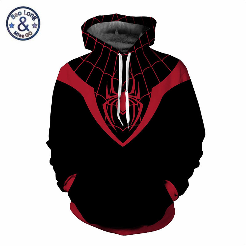 Superhero The Avengers 3 Spiderman Hoodies Spider Man Venom Black Panther Thanos Sweatshirt 3D Hoodie Pullover Cospaly Outfit