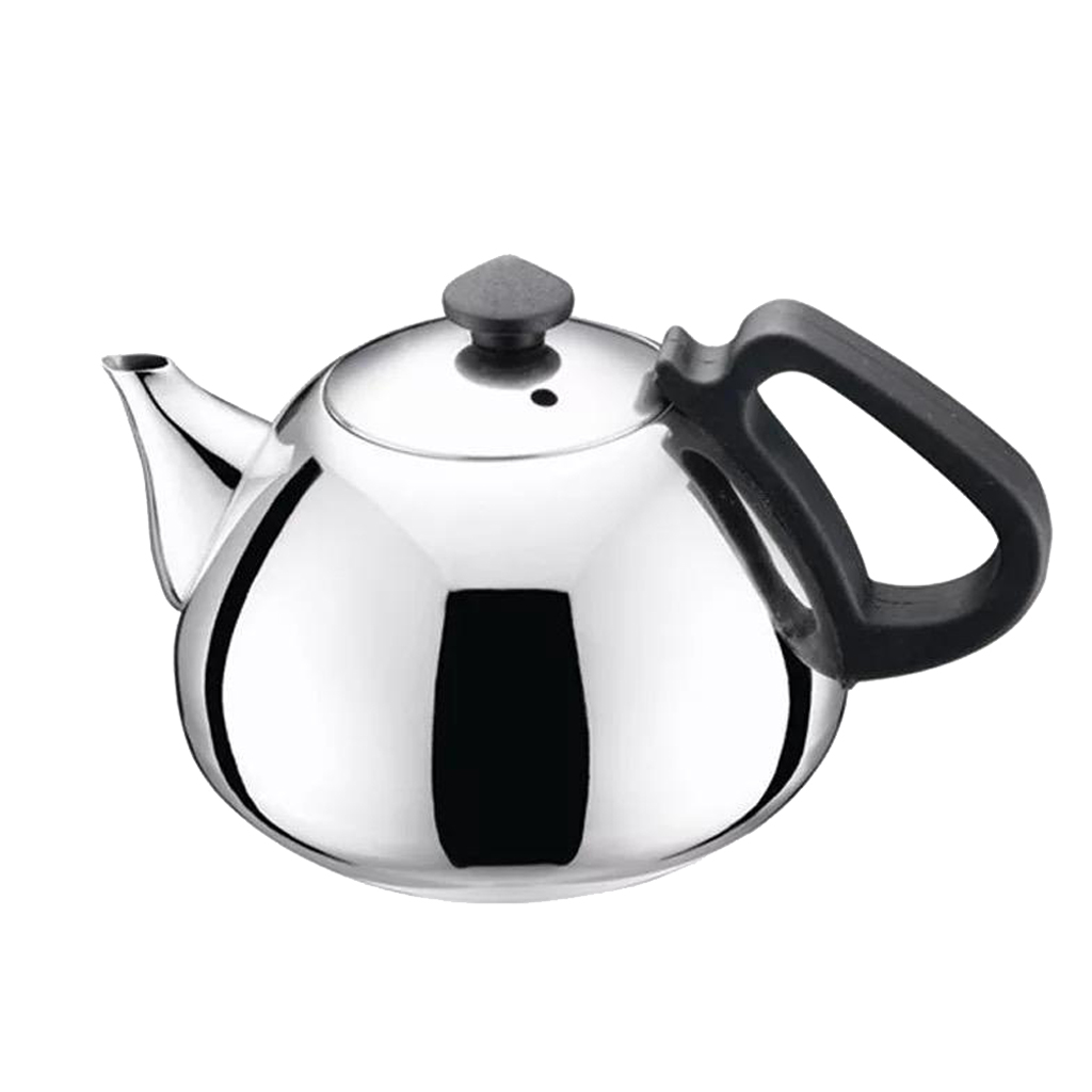 Metal Tea Pot Stainless Steel Teapot Tea Kettle Coffee Tea Pots For Home, Office, Restaurant, Cafe, Hotel