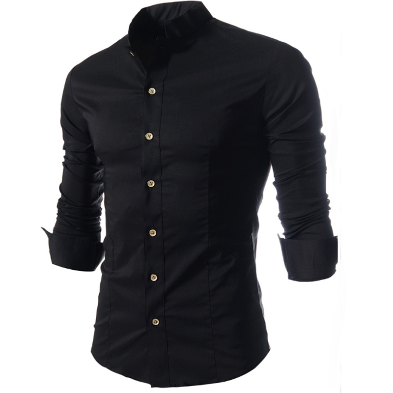 Men Shirt Luxury Brand 2017 Male Long Sleeve Shirts Casual