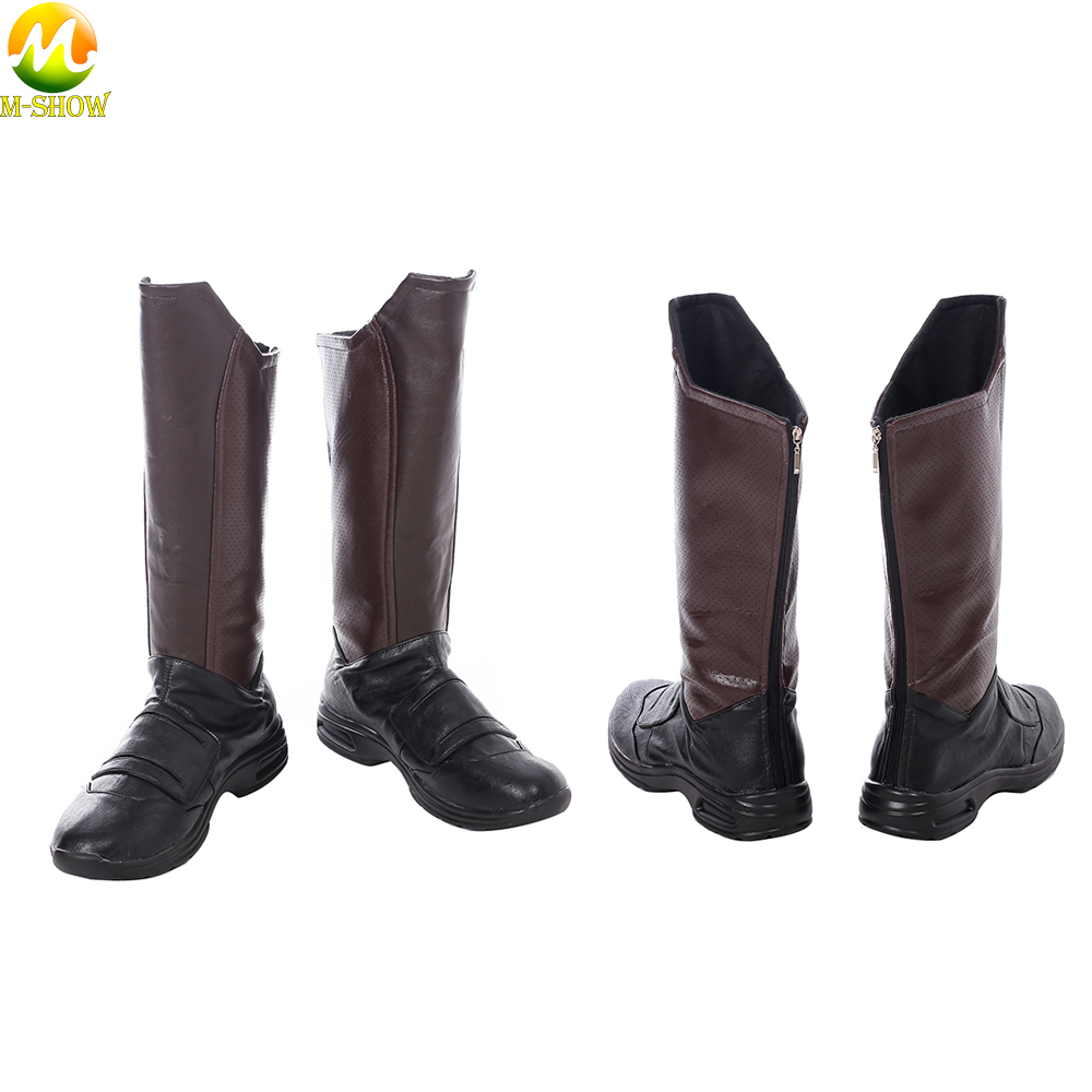 Guardians of The Galaxy 2 Star Lord Cosplay Boots Adult Men Brown Cosplay Boots Costume Accessories For Halloween