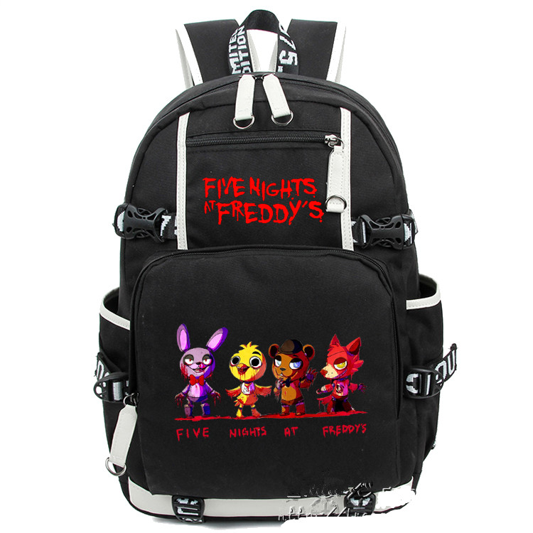 Five Nights At Freddy's Freddy Backpack Chica Foxy Bonnie FNAF Shoulder 44x15x33 cm five nights at freddy s freddy backpack chica foxy bonnie fnaf shoulder 44x15x33 cm