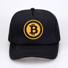 Новая мужская и женская кепка дальнобойщика шляпа Биткоин Бит монета добыча забавные бейсболки летние хип-хоп сетки крутые кепки шляпа для молодежи