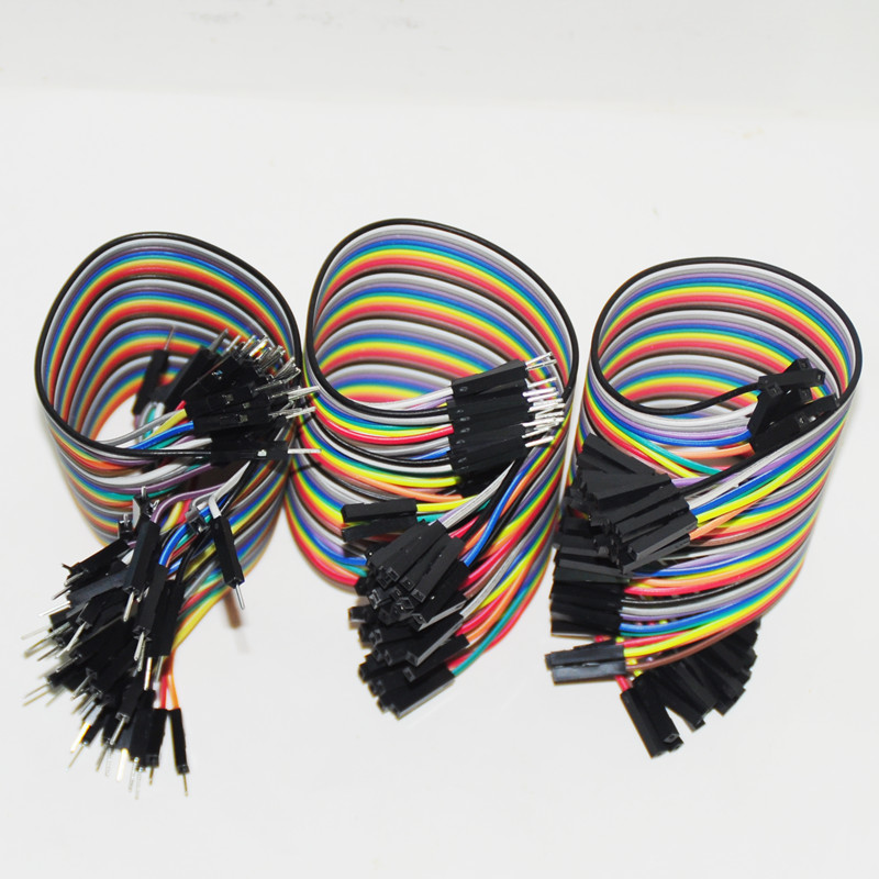 120pcs 20cm 2.54mm Dupont Line Male to Male +  Male to Female + Female to Female Jumper Wire Dupont Cable For Arduino