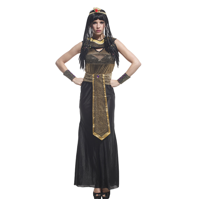 Masquerade party Cleopatra Pharaoh Egypt Cospaly ancient Greek Dress Halloween Costume ancient Egyptian queen Greek goddess