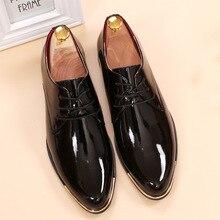 Глянцевая туфли белые плоские свадебные туфли лакированной кожи мокасины мужская обувь люксовый бренд итальянский бренд oxfords обувь для мужчин