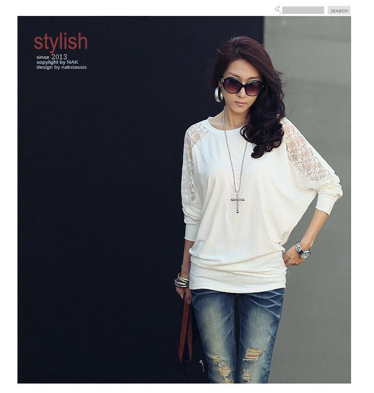 HTB176.hNXXXXXbrXXXXq6xXFXXXb - Casual Lace Blouse Batwing Sleeve Shirt Women Cotton Clothing