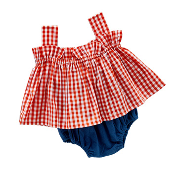 Red Cute Girls Sets 2018 Cotton T-shirt + Shorts 2 Pieces Set Child Clothes Costume Sleeveless Baby Girl Boy Kids Suits 4cs410