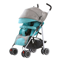 Safe and Lightweight Baby Stroller San Sit and Fold Four Seasons Available Four Wheeled Children's Trolley