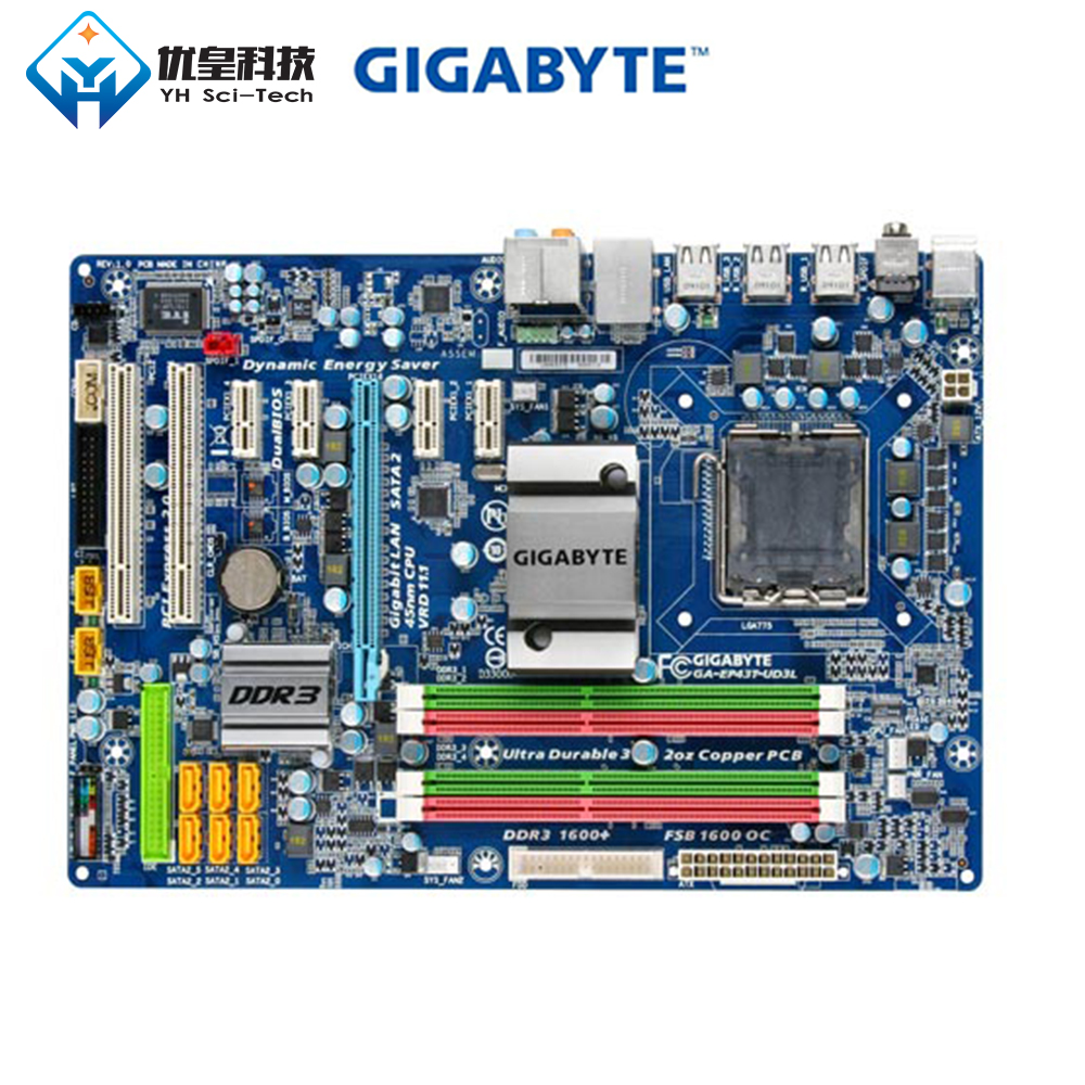 Original Used Desktop Motherboard Gigabyte GA-EP43T-UD3L P43 LGA 775 Core 2 Quad Extreme Duo DDR3 16G SATA2 USB2.0 ATXOriginal Used Desktop Motherboard Gigabyte GA-EP43T-UD3L P43 LGA 775 Core 2 Quad Extreme Duo DDR3 16G SATA2 USB2.0 ATX