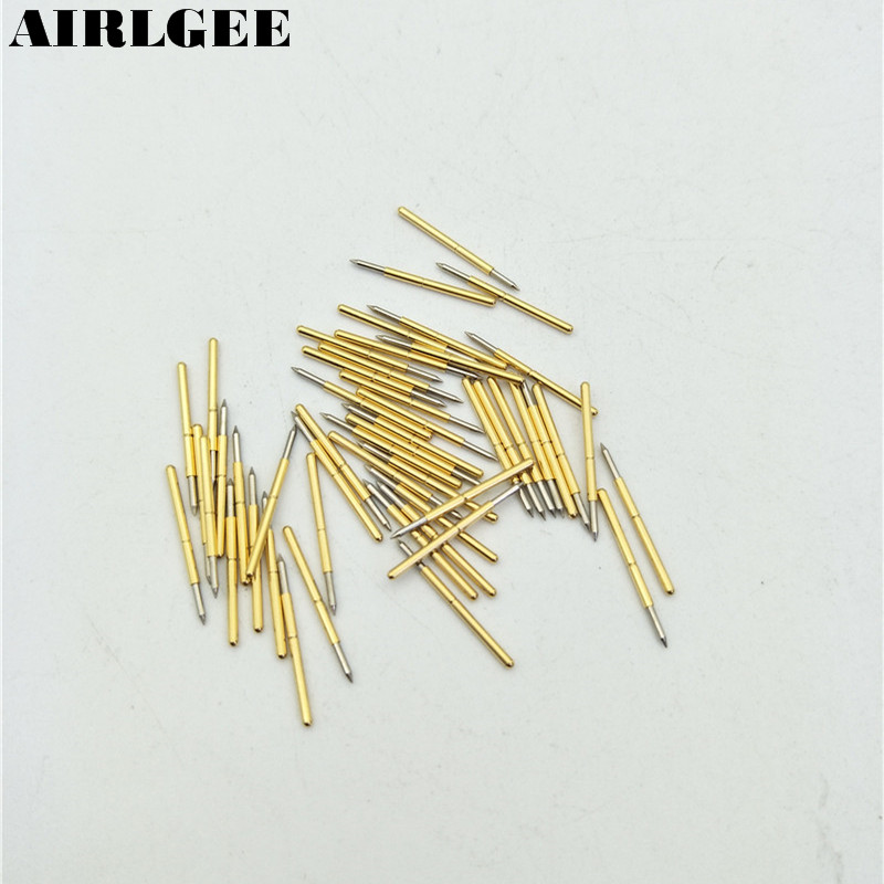 50 Pieces P75-B1 0.74mm Spear Tip Spring PCB Testing Contact Probes Pin Free shipping 100 pieces pl75 b1 0 74mm spear tip spring pcb testing contact probes pin free shipping
