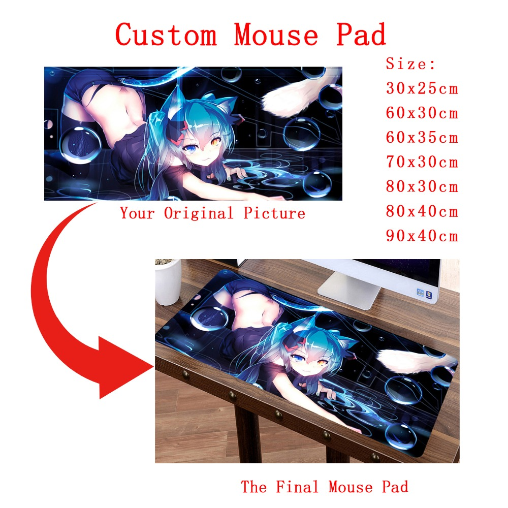 DIY Custom Mouse Pad XL Super Large Gaming Sexy MousePad Gamer Playmat Japan Korea Anime Sexy Fashion Keyboard Mat Customized