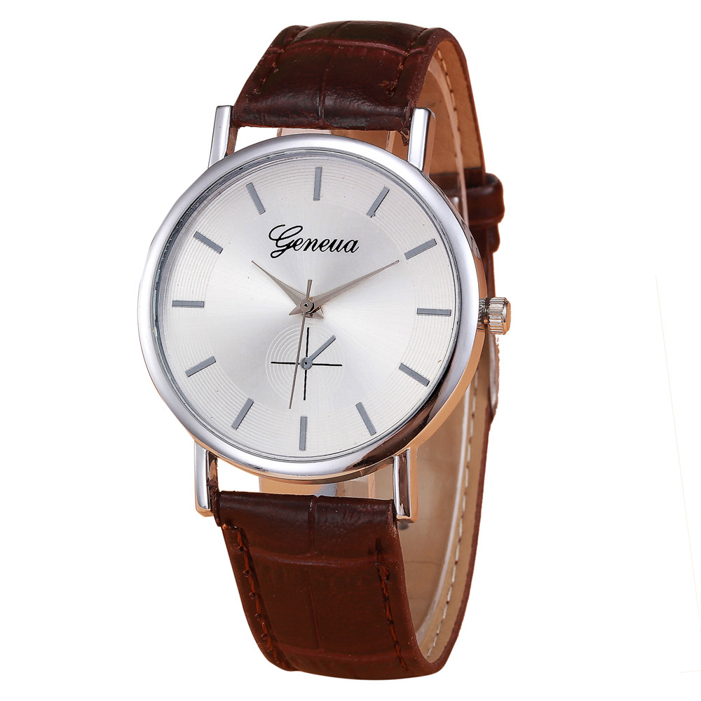 Retro Design PU Leather Band Analog Alloy Quartz Wrist Watch  Reloj 100% brand new  high quality Hot Pretty wholesale  Oct5 fabulous 1pc new women watches retro design leather band simple design hot style analog alloy quartz wrist watch women relogio