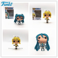 FUNKO POP Japanese Quadratic- Hatsune Miku- Mirror Sound Action Figure Vinyl Doll Model Star Collection Toys for friend