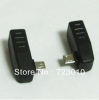 Free Shipping 2pcs Right Left Angle 90 Degree Usb Micro B 5pin To A Female Connector