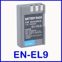 Bateria recarregável li-ion battery pack para nikon en-el9, EN-EL9a, en-el9e e nikon d3000, D40, d40, D5000, D60 Digital SLR Camera