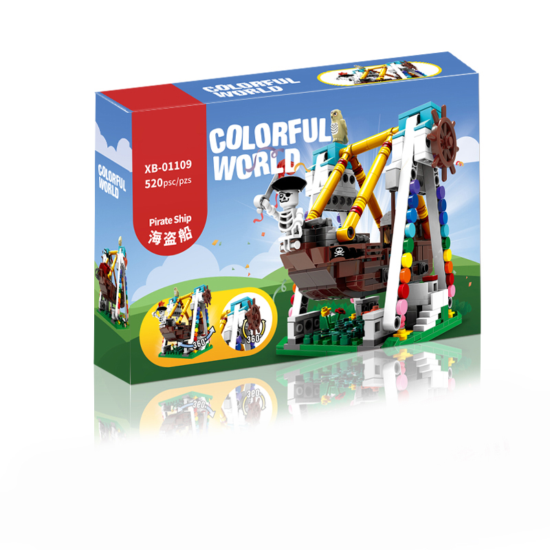 520pcs Pirate Ship Paradise Building Blocks for Kids Buildling Pirate Boat Brick Block compatible with LOGO Xingbao 01109 in Blocks from Toys Hobbies