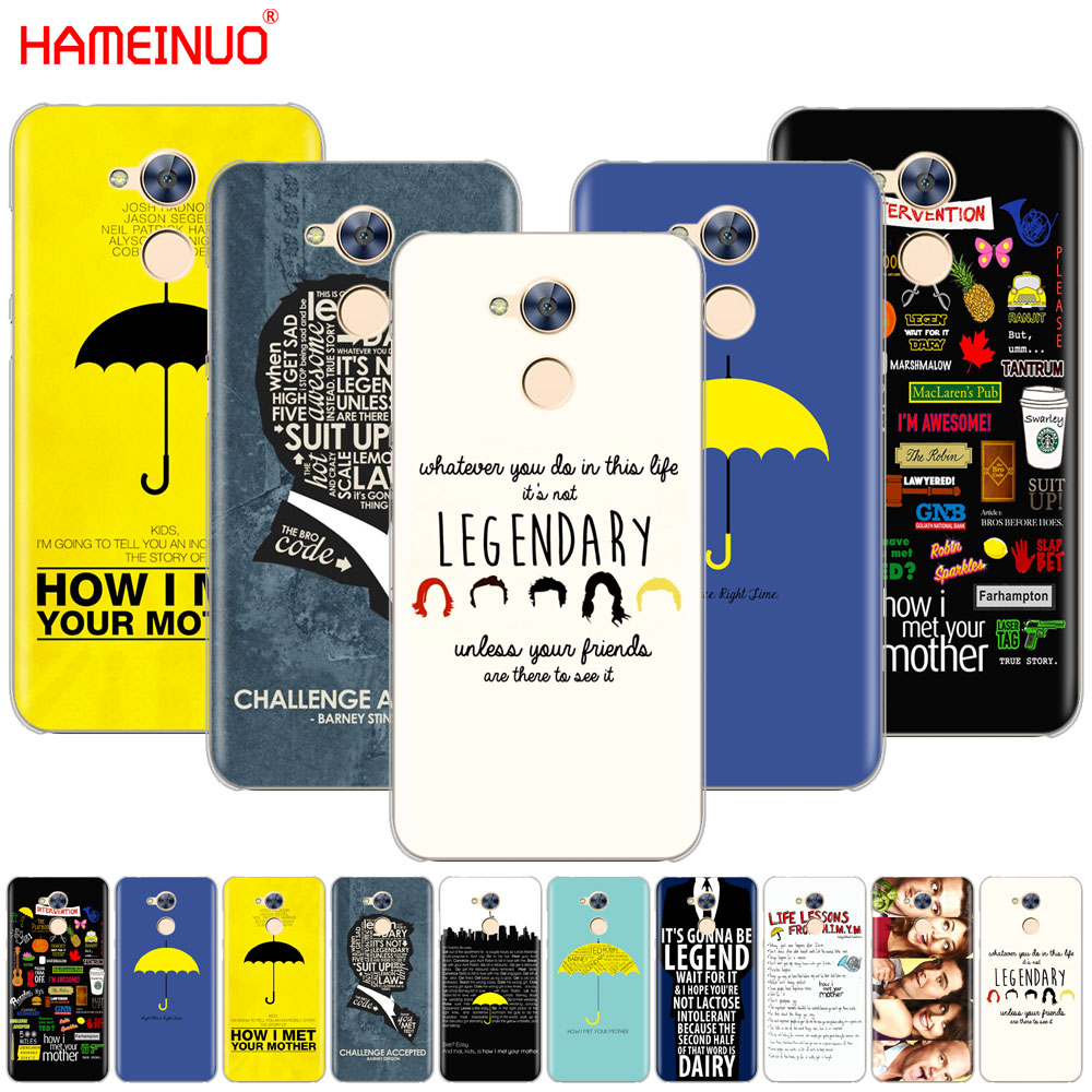 HAMEINUO how i met your mother himym quotes Cover phone Case for Huawei Honor 10 V10 4A 5A 6A 7A 6C 6X 7X 8 9 LITE