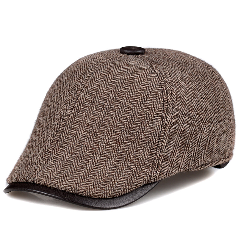 Casual Baseball Hat for Men Fashion Beret Hats Autumn Winter Male Hat Caps