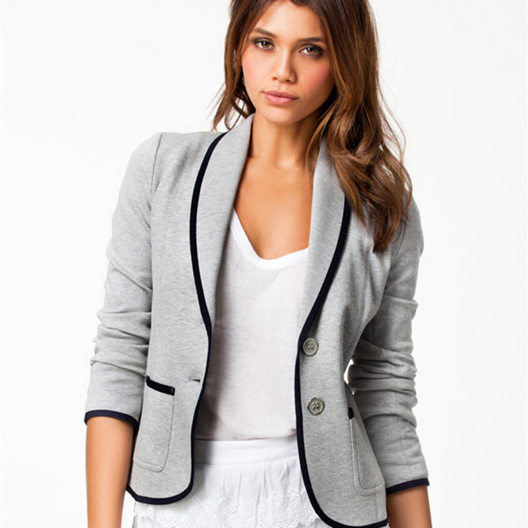 Fashion Ladies Long-sleeved Casual Slim Women Blazers Jackets Small Suit Button Women Basic Jackets Female Office Lady Suits