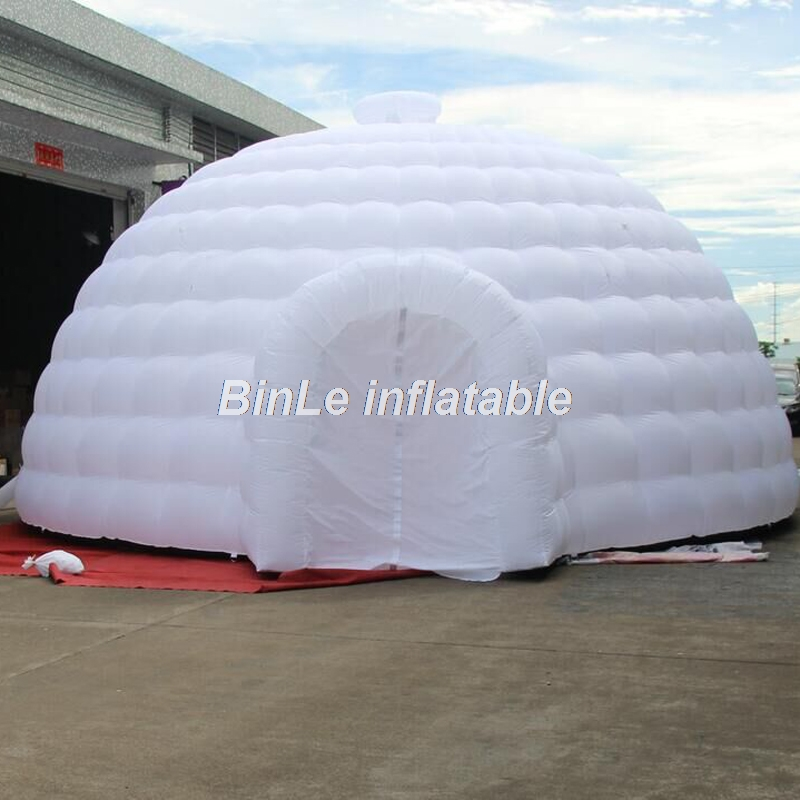 High quality blow up white giant inflatable dome tent with 2 entrances igloo tent inflatable tent for event exhibition 10x5x5m white outdoor inflatable marquee giant inflatable tent inflatable dome tent for wedding