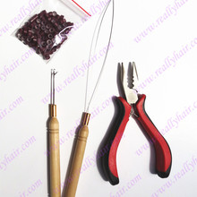 1pcs Link-Rings Plier Hair-Extension-Tool-Kits for Hook Silicone Three-Hole