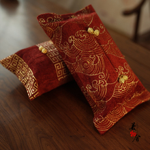 ФОТО freeshipping wine red 2018 wave cotton customized wedding room car hotel decorative embroidery tissue box napkin holder cover