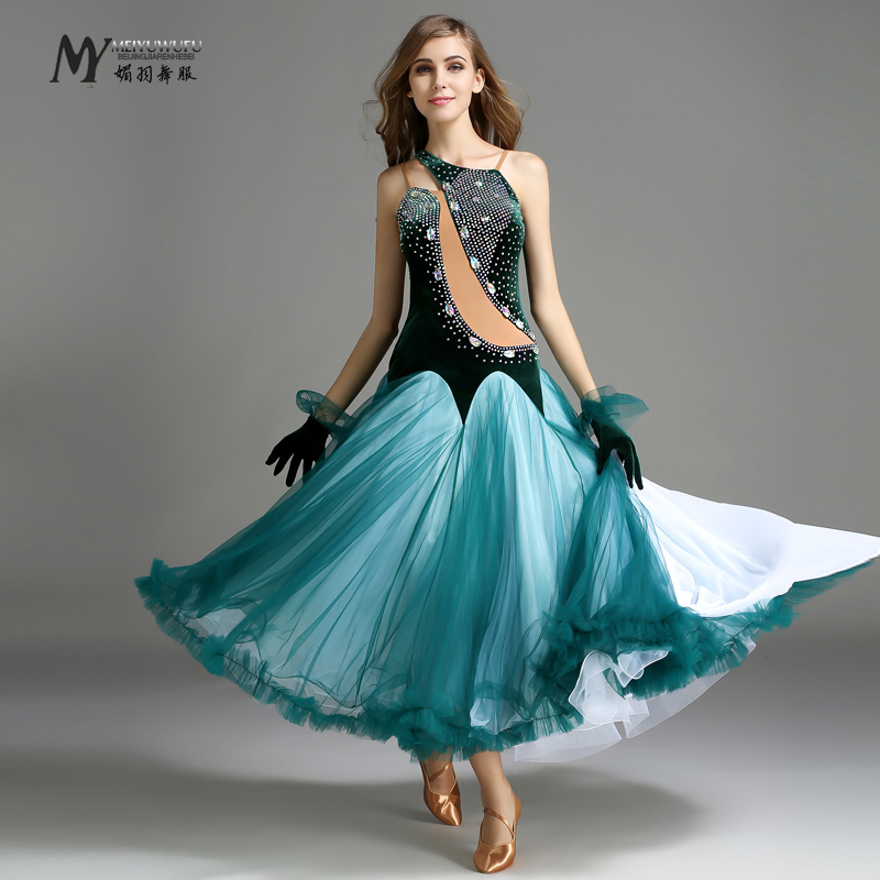 Stage Clothing For Dancing Grade !!2016 Ballroom Dance Dress Woman Modern Waltz Tango Dress/standard Competition Costumes My746