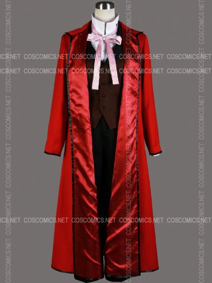 Free shipping Cheap Black Butler Death Grell Sutcliff Cosplay Costume Anime Clothing Halloween