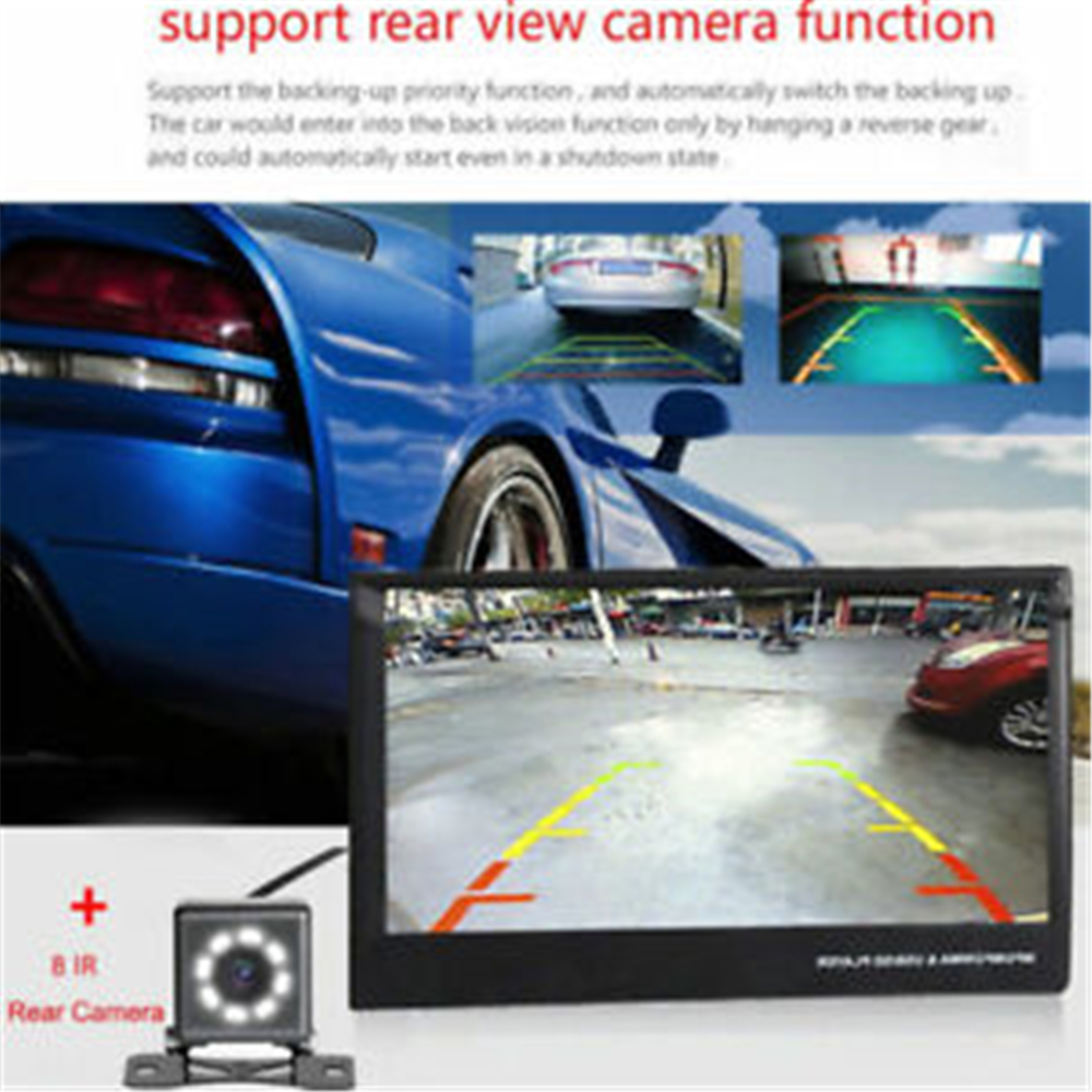 Podofo 1din coche Radio navegación GPS 7 HD retráctil pantalla MP5 reproductor Bluetooth Estéreo espejo enlace Autoradio cámara de visión trasera - 4