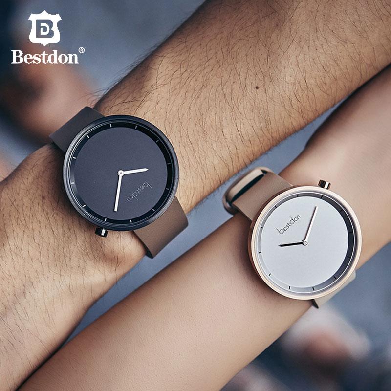 Bestdon Couple montre pour amoureux minimaliste personnalisé tendance japonais Quartz montre-bracelet Math unisexe saint valentin cadeau
