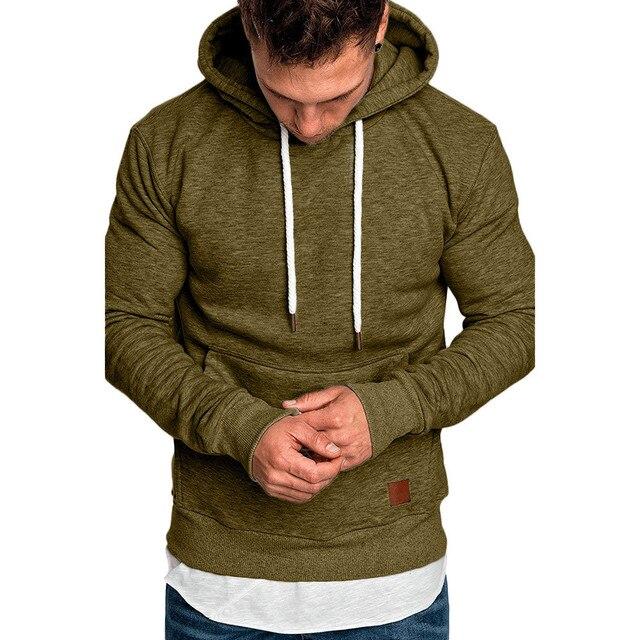 ISHOWTIENDA sweatshirt men 2018 hoodies brand male long sleeve solid hoodie men black red big size poleron hombre