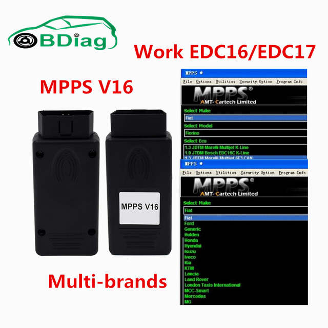 US $11 4 |MPPS V16 OBD2 ECU Chip Tuning Interface MPPS Flasher Remap For  EDC 15/16/17 Inkl CHECKSUM Newest Version MPPS 16 In stock-in Code Readers  &