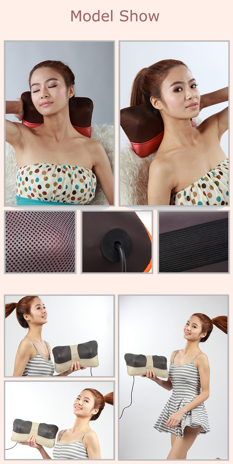 Cervical Massage Pillow And Neck Shoulder Electric  Shiatsu Massager Car Seat Cushion With Heat 8