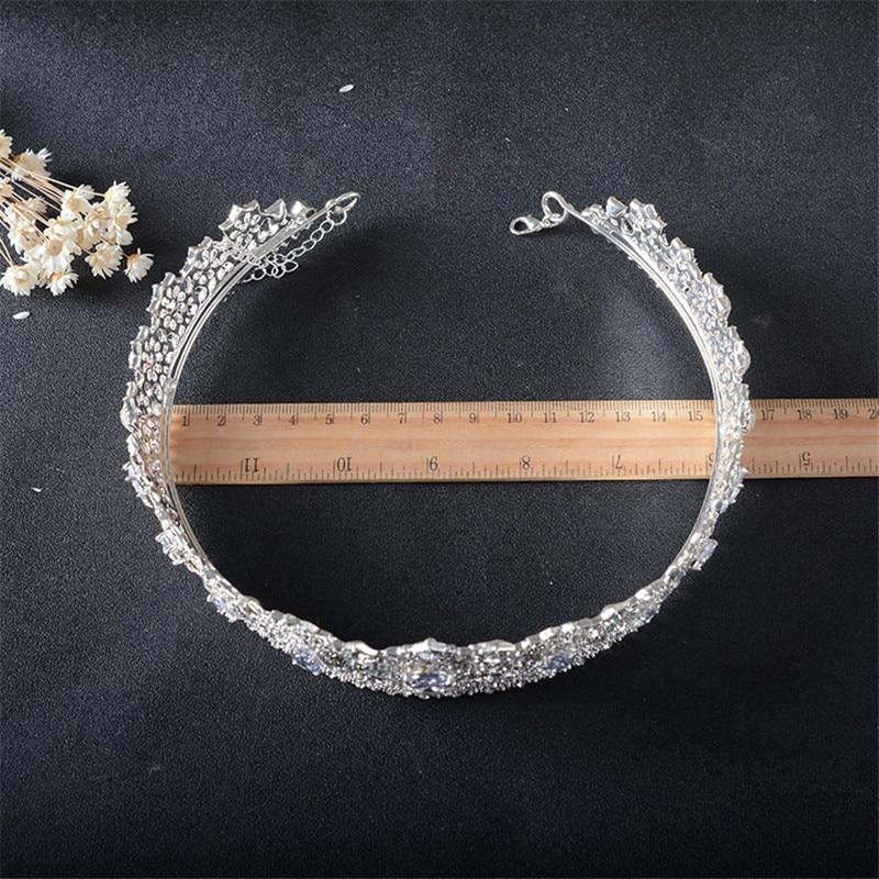 Snuoy Noble Glamour Full Drill Հարսանյաց Tiaras Perles Pour - Նորաձև զարդեր - Լուսանկար 6