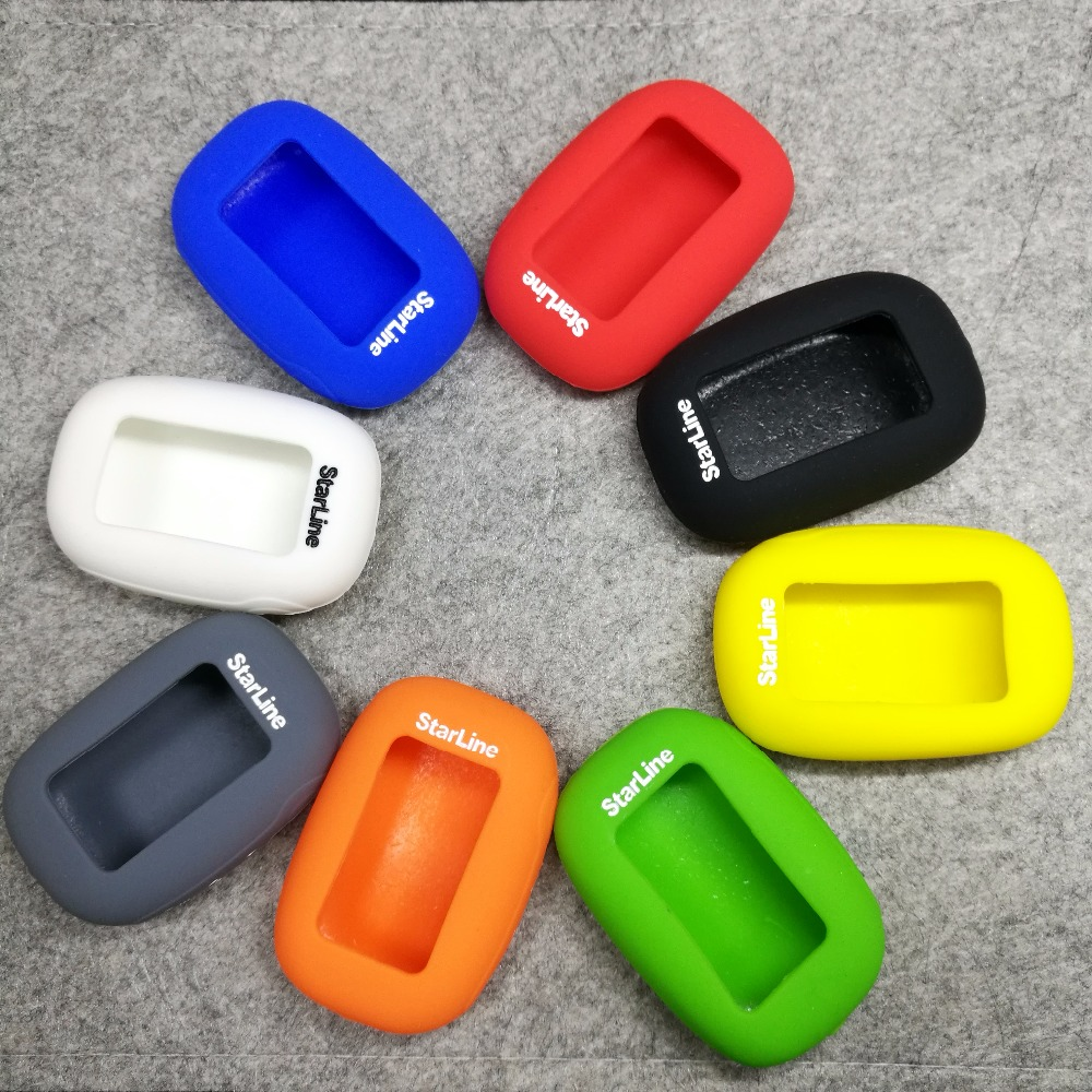 10pcs/lot 7 colors Hot sell russian version B92 silicone case for starline B92/B94/B62/B64 lcd remote two way car alarm system