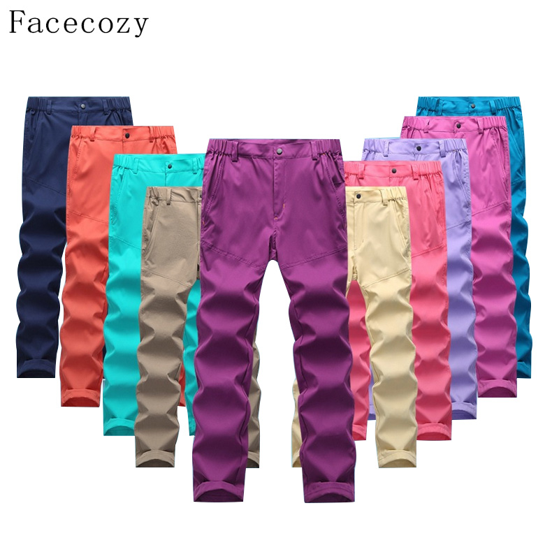 Facecozy Women Outdoor Summer Sport Fishing Pants Female Solid Color Breathable Quick Dry Anti UV Trouser