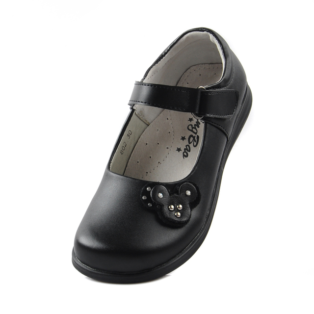 Female child black leather shoes girls shoes for formal dress child  princess school shoes spring and autumn