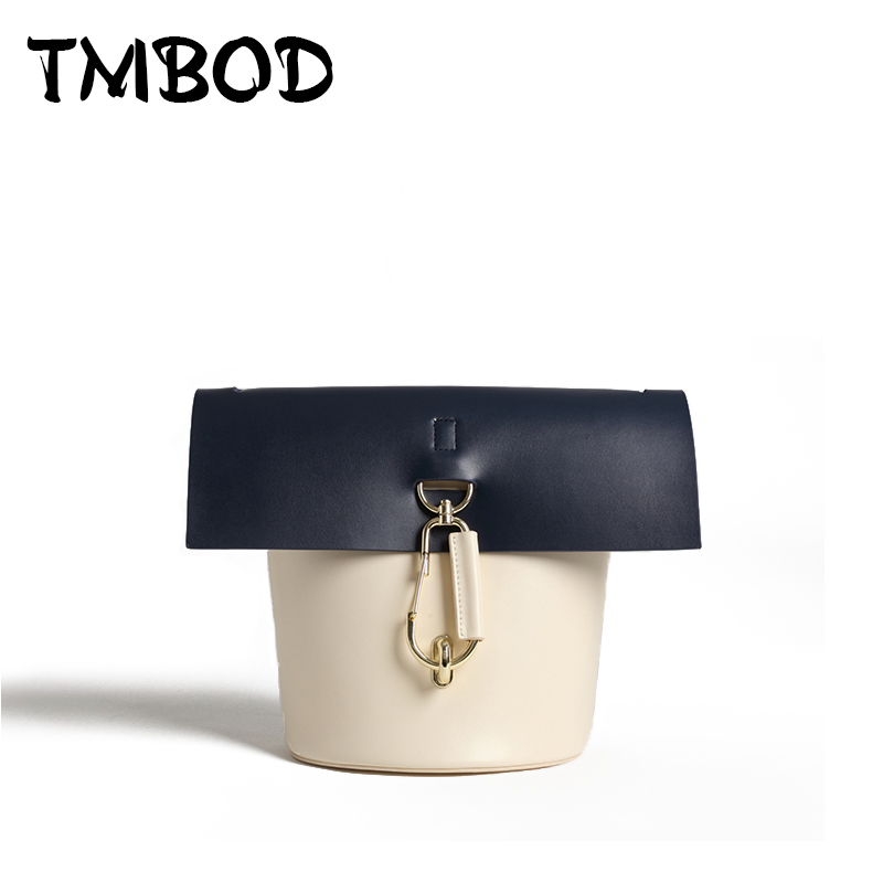 New 2018 Designer Classic Panelled Patchwork Bucket Bag Women Split Leather Handbags Ladies Crossbody Bag For Female an954 new 2018 classic patchwork flap crossbody bag for female women canvas