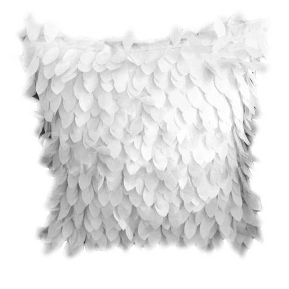 Hot Fallen Leaves Feather Couch Cover Home Dekokissen Fall Textile Weiche Dekorative Kissenbezüge Weiß Rückenkissen