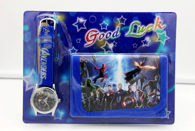 Hot sale! Wholesale New Lot Super Hero Avengers cartoon kids part Set watch kids