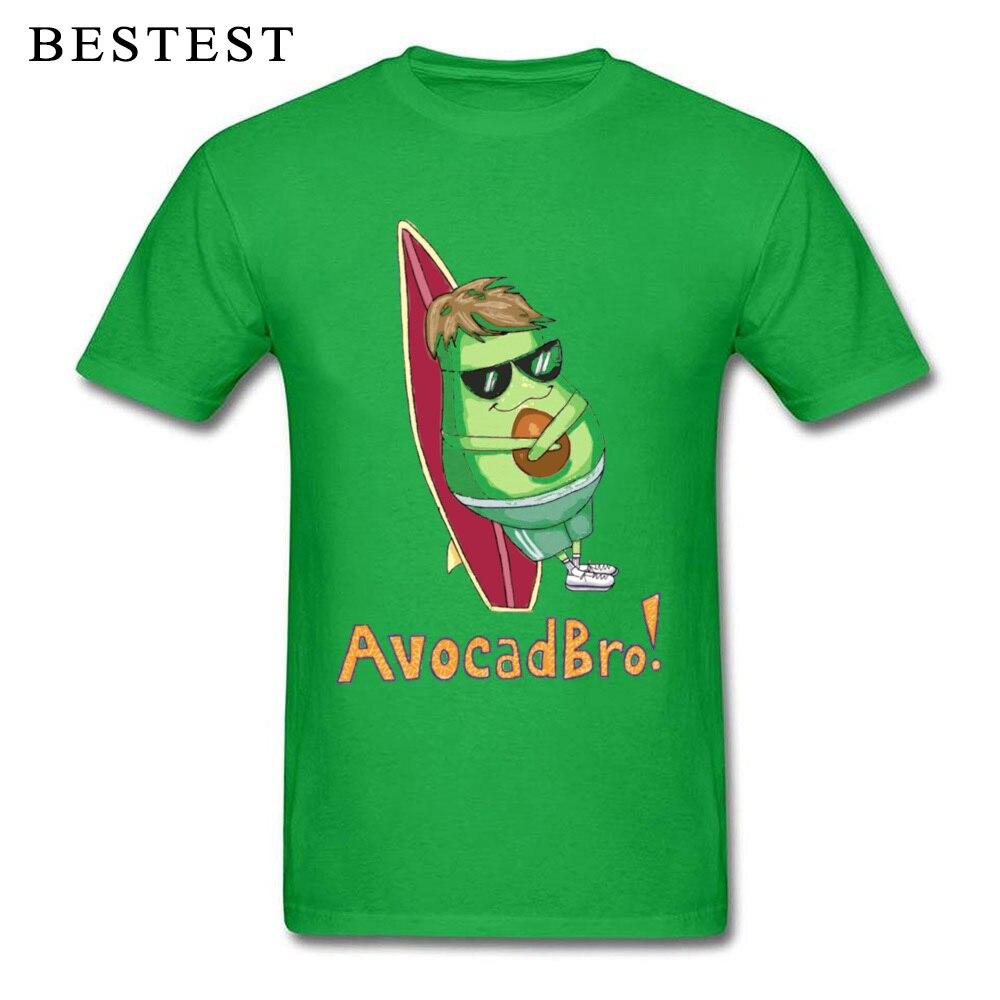 Leisure T Shirt Mens Funny Tshirt Hot Sale Short Sleeve Men Top T-shirts Avocadbro Beach Surfer Tee-Shirts Avocado Swag Shirts
