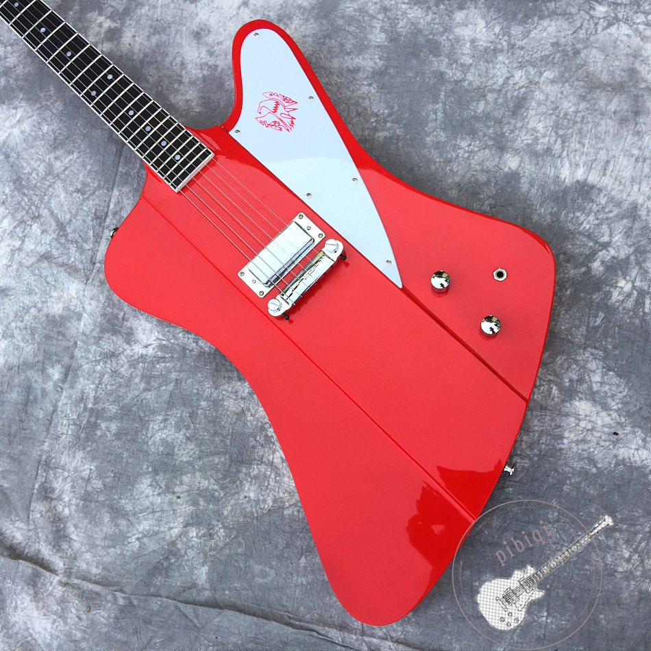 Free delivery, all new popular electric guitar, bright red, 1 pickup truck, all color and logo customizable